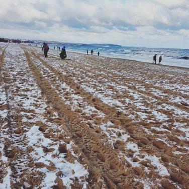 Plaża w Orłowie wczesny listopadem