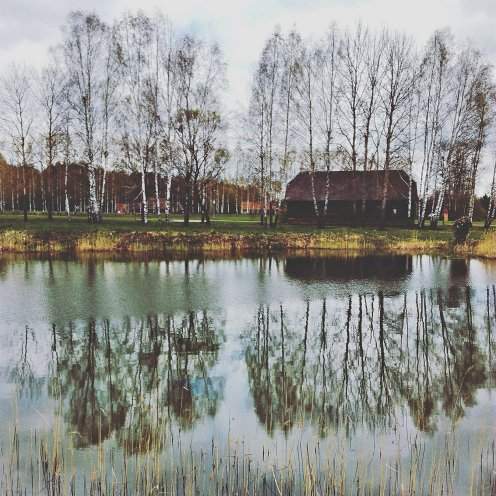 Jezioro w Białostockim Muzeum Wsi